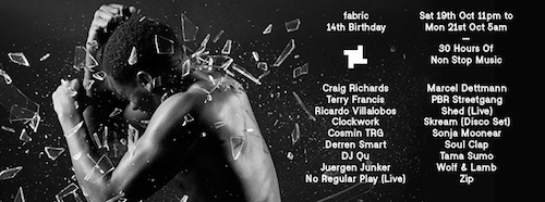 Fabric 14th Birthday (Oct 18th-21st) Artist Interviews Pt2