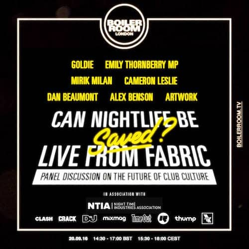 Can Nightlife be Saved? – LIVE from Fabric via Boiler Room TV