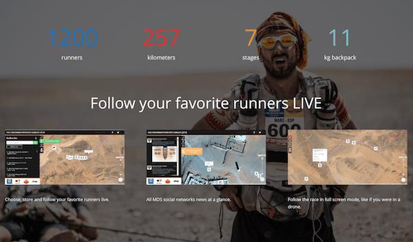 Track Blah Blah Blah in 'REAL TIME' as they run across the Sahara