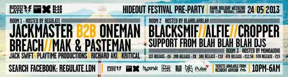 24th May BBB 6th Birthday Pt.2 – Hideout Festival Pre Party hosted by Regulate